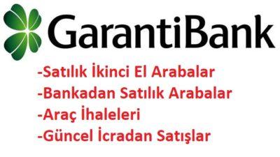 Garanti Bankasından Satılık 2. El Araçlar