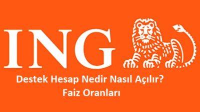 ING Bank Destek Hesap ve Özellikleri