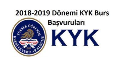 2018-2019 Dönemi KYK Bursu Başvuru ve Şartları