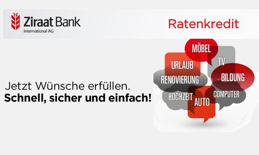 Ziraat Bank Ratenkredit