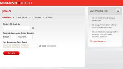 Akbank İnternet Bankacılığı Şifresi Alma Nasıl Yapılır?