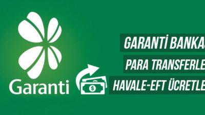 Garanti Bankası EFT / Havale Ücretleri ve Saatleri