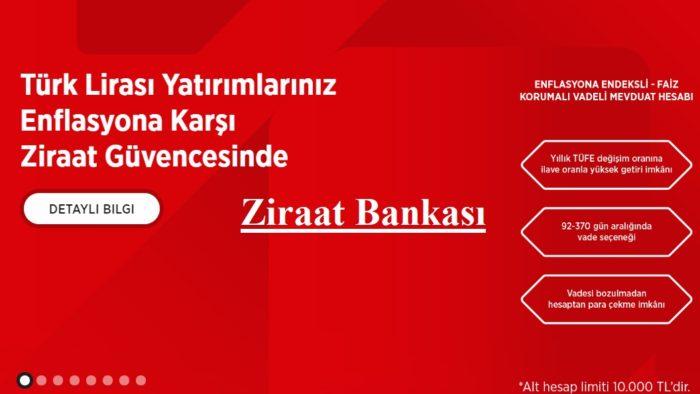 Ziraat Bankası Enflasyon Korumalı Vadeli Hesap